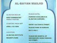 Masjid AlBayan Jumu'ah & prayer times