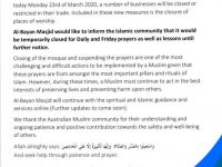 Suspension of Congregational Prayer and more…